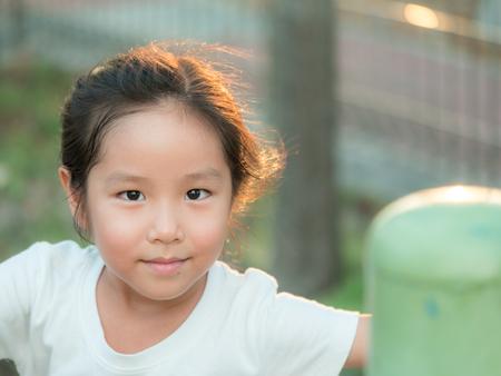 adorable Asian cute girl  close up head shot , healthy girl