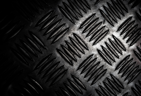 texture of stainless steel floor plate, close up shot Stock Photo