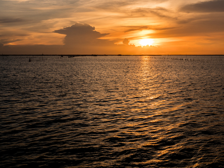 Beautiful sunset above sea in thailand,