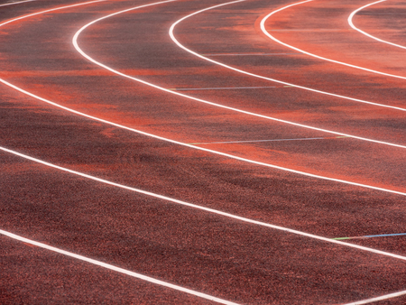 Running track for athletics and competition in prepare maintenance