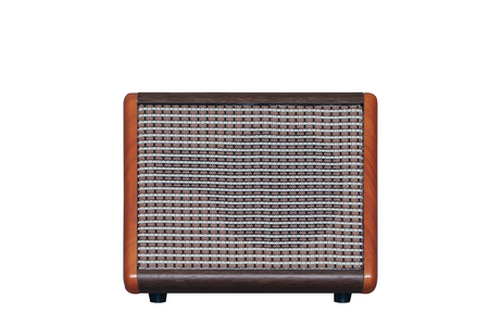 Acoustic guitar amplifier isolated on white background Imagens