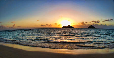 Hawaiian Sunrise from East Oahu                     Stock Photo