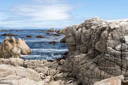The 17 Mile Drive is a scenic route between Pacific Grove and Pebble Beach in California Monrerey ********** The 17 Mile Drive is a scenic road through Pacific Grove and Pebble Beach, Monterey, CA.