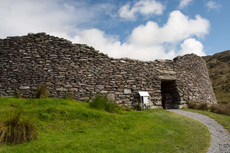 archaeologically: Staigue Fort is a ring fort in the south of the Iveragh Peninsula, which is surrounded by the Ring of Kerry