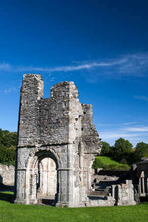 cistercian: Mellifont Abbey located in County Louth (Ireland), the first Cistercian abbey which to be built in Ireland Stock Photo