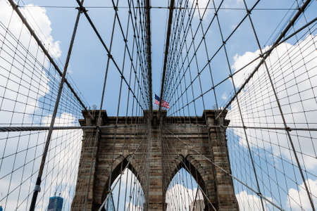 boroughs: The Brooklyn Bridge is a bridge in New York City and is one of the oldest suspension bridges in the United States. Completed in 1883, it connects the boroughs of Manhattan and Brooklyn