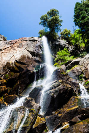 kings canyon national park: Grizzly Falls in Summer at Kings Canyon National Park, California, USA Stock Photo