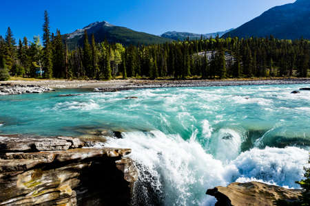 icefield: Athabasca Falls, Icefield Parkway, Jasper National Park