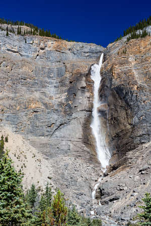 metres: Takakkaw Falls is a waterfall located in Yoho National Park, near Field, British Columbia, in Canada. Its highest point is 302 metres from its base, making it the 45th tallest waterfall in western British Columbia.