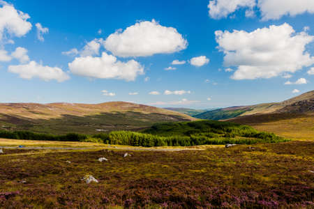 Wicklow, Leinster, Ireland- August 8 2010: The Wicklow Mountains form the largest continuous upland area in Ireland. Stock Photo