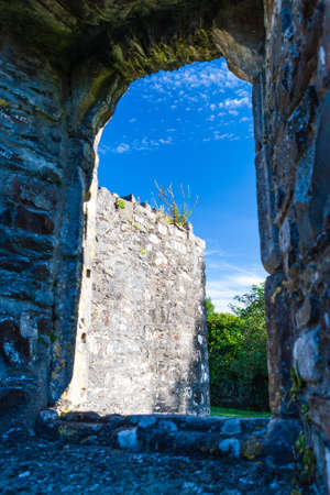 synod: Mellifont Abbey, County Louth, Ireland - August 25, 2010: Mellifont Abbey was the first Cistercian abbey to be built in Ireland. Founded in 1142 on the orders of Saint Malachy, Archbishop of Armagh.