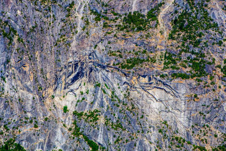 sierra nevada mountains: Panoramic view from Glacier Point over Yosemite Valley. Yosemite Valley is a glacial valley in Yosemite National Park in the western Sierra Nevada mountains of Northern California.