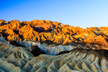 noted: Zabriskie Point is a part of Amargosa Range located in east of Death Valley in Death Valley National Park in the United States noted for its erosional landscape.