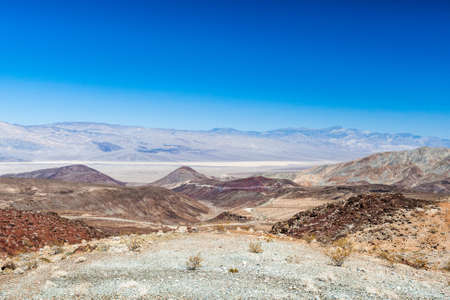 death valley: Nadeau Trail is next to Darwin Wash and is located in Inyo County, California, United States. Nadeau Trail has a length of 1.81 kilometres. Stock Photo