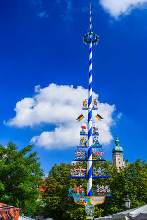The Viktualienmarkt is a daily food market and a square in the center of Munich, Germany. The Viktualienmarkt developed from an original farmers market to a popular market for gourmets.