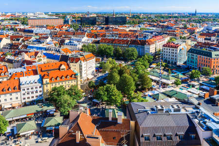 The Viktualienmarkt is a daily food market and a square in the center of Munich, Germany. The Viktualienmarkt developed from an original farmers' market to a popular market for gourmets.