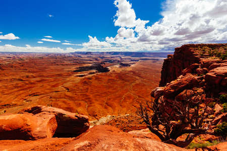 Canyonlands National Park is a National Park located in southeastern Utah. It preserves a colorful landscape eroded into countless canyons, mesas, and buttes by the Colorado River and the Green River.