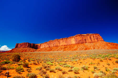 Indn Rte 42 in Monument Valley, Navajo Tribal Park, Arizona, USA. Stock Photo