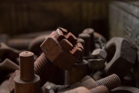 corroded: Corroded and Rusty Screws Stock Photo