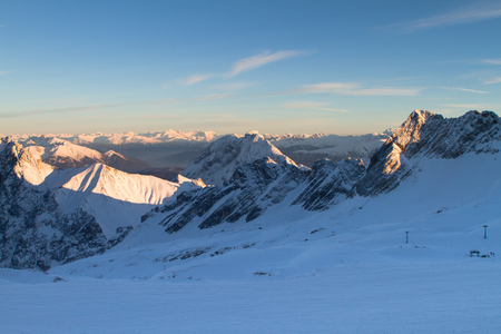 Zugspitze at Winter Time