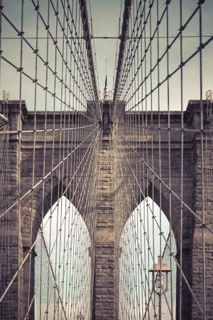 brige: Detail Of New York Brooklyn Brige