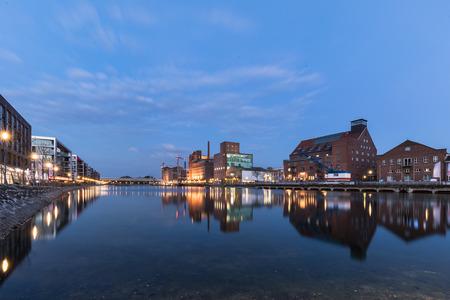 Inner Harbor Duisburg Blue Hour  Germany