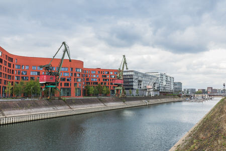 Duisburg Inner Harbour And Marina Germany