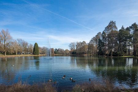 Beautiful Lake Of Schönwasserpark Krefeld