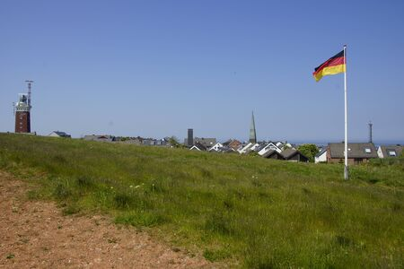 helgoland: German Flag on Helgoland