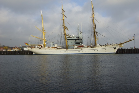 tall ship: The tall ship of the German Navy Gorch Fock Stock Photo