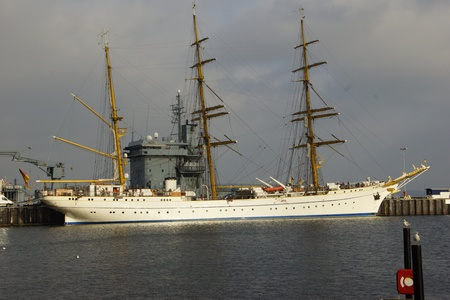 fock: The tall ship of the German Navy Gorch Fock Stock Photo