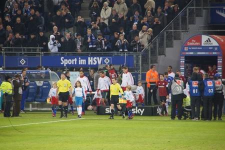 hsv: Coming out fot the football match HSV - Eintrach Frankfurt