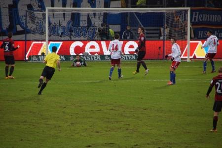 hsv: The football player Rene Adler from the team Hamburger Sportverein HSV Hamburg