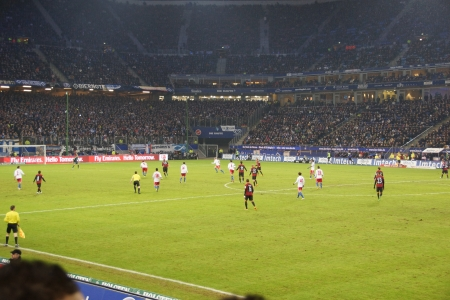 Footage from the football game HSV Hamburg vs. Eintracht Frankfurt at 02021023 Editorial