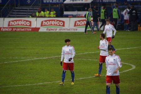 The football player Heung Min Son from the team Hamburger Sportverein HSV Hamburg