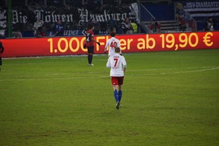 hsv: The football player Marcell Jansen from the team Hamburger Sportverein HSV Hamburg Editorial