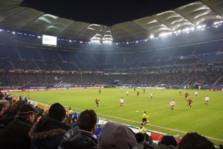 Footage from the football game HSV Hamburg vs. Eintracht Frankfurt at 02021023 報道画像