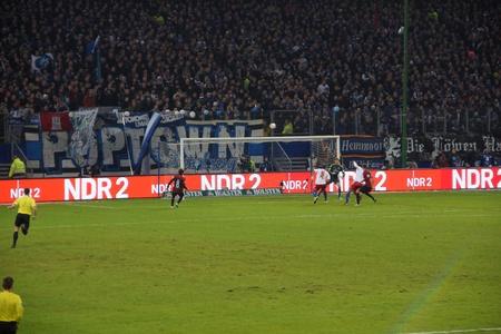 hsv: Footage from the football game HSV Hamburg vs. Eintracht Frankfurt at 02021023 Editorial