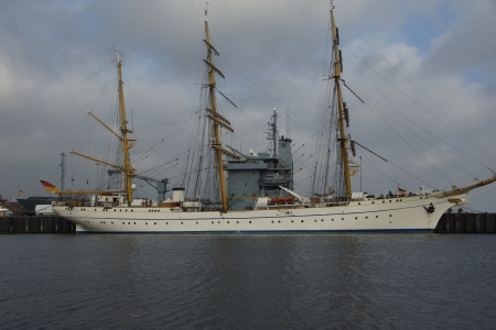 The tall ship of the German Navy Gorch Fock Stock Photo