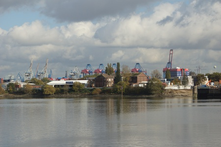 The Container terminal in Hamburg photo