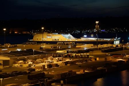 The Eastabnk Port in Kiel at DawnNight