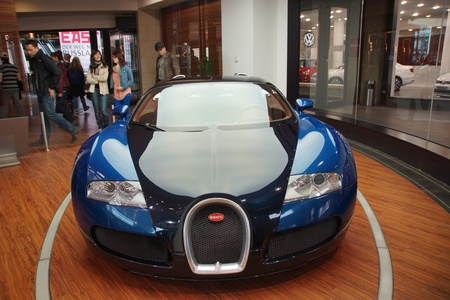 supercar: The mid-engined grand touring car Bugatti Veyron 16.4 Editorial