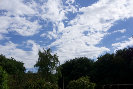 kiel: Blue Sky and white clouds over Kiel