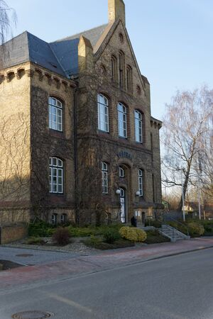 gable house: the Kappeln police station in a gabled house Stock Photo
