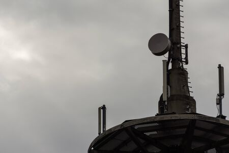 electromagnetic radiation: A radio mast for mobile