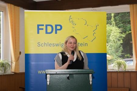 parliamentary: Katharina Weinert, parliamentary candidate, gives a speech