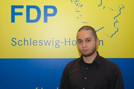 constantin: Constantin Papaspyratos, Secretary and member of the FDP district board Kiel