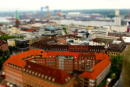 woche: Pictures made with tilt shift during the Kieler Woche from the Town Hall Tower