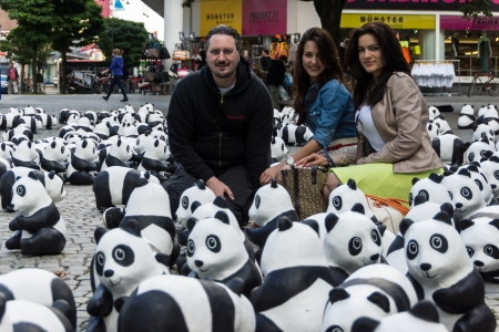 wwf: The WWF draws attention to the endangered giant panda with an action in the city of Kiel Editorial