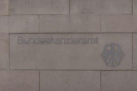 chancellerie: Chancellerie f�d�rale, Accueil de la chanceli�re et le personnel de la Chancellerie Banque d'images